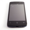 Broken phone display display crack Stock Photos