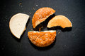 Broken pieces of Bread Royalty Free Stock Image
