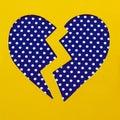 Broken polka dot heart