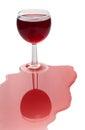 Broken red wine glass Royalty Free Stock Photo