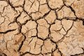 Broken soil in dry season Royalty Free Stock Images