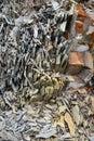 Broken stone fragmentation Royalty Free Stock Photo