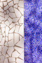 Broken tiles mosaic trencadis typical from Mediterranean Royalty Free Stock Photos