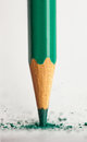 Broken tip of green pencil Royalty Free Stock Photo