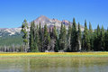 Broken Top from Lava Lake Royalty Free Stock Photo