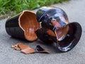 Broken vase Royalty Free Stock Photo