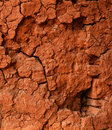 Broken walls clay of background Stock Image