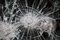 Broken window photo of a close up Royalty Free Stock Photography