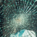 Broken windshield Stock Photography