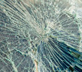 Broken windshield close up photo of a Royalty Free Stock Images