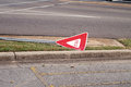 Broken Yield Sign Royalty Free Stock Image
