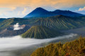 Bromo mountain in tengger semeru national park at sunrise east java indonesia Royalty Free Stock Photos
