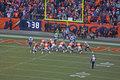Broncos for the score peyton manning starts scoring play against titans Stock Images