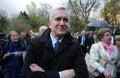 Bronislaw komorowski presidential campain busko zdroj poland march president of the republic of poland during election campaign Stock Image