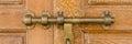 Bronz door knob wood with Royalty Free Stock Photo