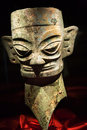 Bronze Ancient Mask Statue China Stock Photos