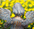 Bronze angel statue Stock Photos