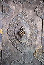 Bronze antique drawer door handle , Esfahan,Iran Royalty Free Stock Images