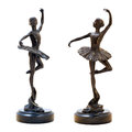 Bronze antique figurine of the dancing ballerina. Stock Image