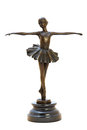 Bronze antique figurine of the dancing ballerina. Royalty Free Stock Photo