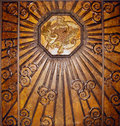 Bronze art deco wall Royalty Free Stock Images