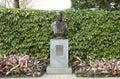 Bronze bust of goethe in the frankfurt rose garden guangzhou liuhuahu park canton province guangzhou china the frankfurt rose Royalty Free Stock Images