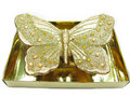 Bronze candle butterfly shape Stock Photo