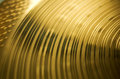 Bronze cymbal texture concentric circles Royalty Free Stock Images