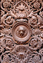 Bronze decoration ancient door with in rome italy Royalty Free Stock Photography