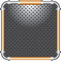 Bronze frame perforated Royalty Free Stock Photos