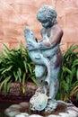 Bronze Garden Fountain Royalty Free Stock Photo