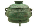 Bronze gui jie ancient chinese ware production elegant artistic value is the highest in the world ware its peculiar modelling Royalty Free Stock Photos
