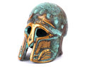 Bronze helmet isolated white Royalty Free Stock Images