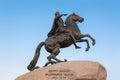 Bronze horseman russia st petersburg monument saint Royalty Free Stock Images