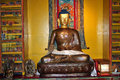 Bronze Image Of Lord Gautama Buddha, Norbulingka Institute Royalty Free Stock Photo