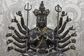 Bronze image of the one thousand hands bodhisatva guanyin Stock Images