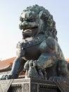 Bronze Lion Statue Royalty Free Stock Photo
