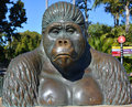Bronze of mbongo san diego ca usa april was born in the belgian congo and was captured in the gorilla was donated to the zoo a Stock Images