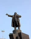 Bronze monument to vladimir lenin in the veliky novgorod city Royalty Free Stock Photo