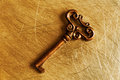 Bronze old key Royalty Free Stock Photo