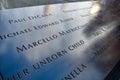 Bronze parapet of World Trade Center Memorial at Ground Zero. New York, USA. Royalty Free Stock Photo