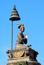 Bronze pillar nepal on patan durbar square in kathmandu Stock Photography