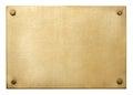 Bronze plate Royalty Free Stock Photo