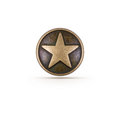 Bronze star symbol on isolated background Royalty Free Stock Image