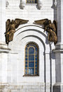 Bronze statue of angels from the cathedral of Christ the savior in Moscow. Royalty Free Stock Photo