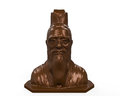 Bronze statue of confucius isolated on white background d render Royalty Free Stock Photo
