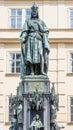 Bronze Statue Of Czech King Charles Iv In Prague, Czech Republic Royalty Free Stock Photo