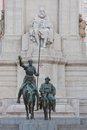 Bronze statue don quixote sancho panza madrid spain Stock Image