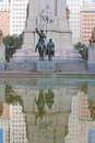 Bronze statue don quixote sancho panza madrid spain Stock Photography