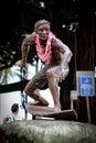 A Bronze statue of Duke Kahanamoku
